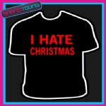 BAH HUMBUG ANTI HATE CHRISTMAS GRUMPY MAN TSHIRT CHILDRENS MENS & LADIES SIZES